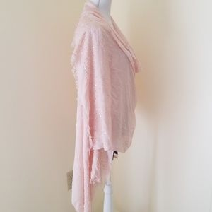 NWT! Adrianna Papell Blush Scarf with sequins